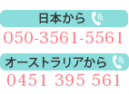 電話からのお問い合わせ
