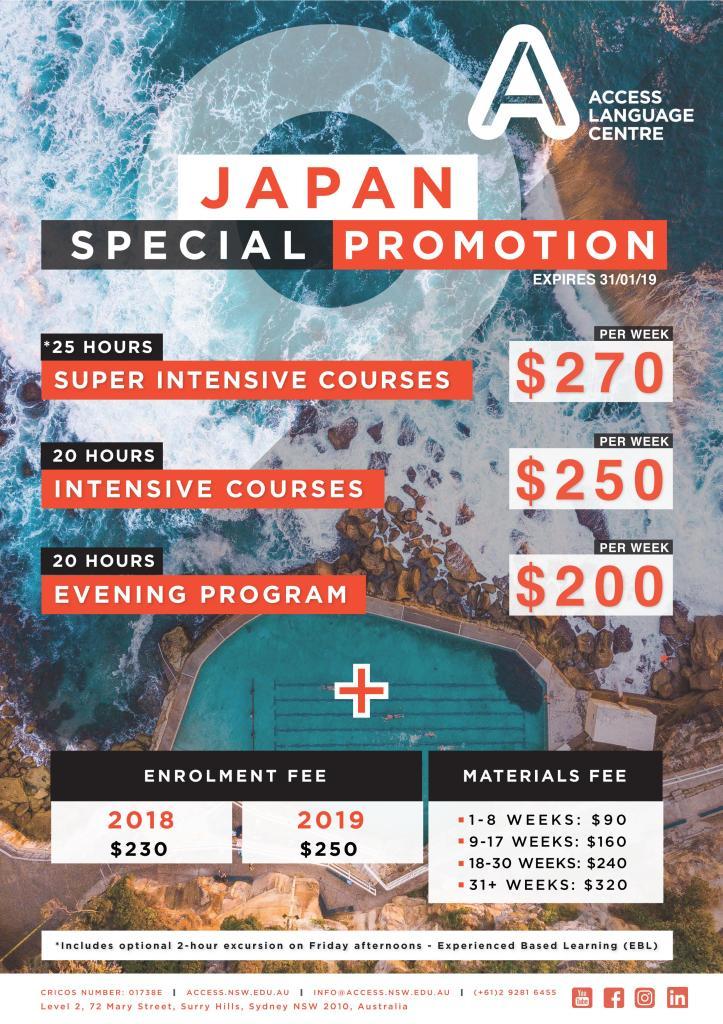 Access Language Centre, Sydney - Japan Promotion - 31_01_19_01